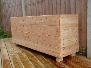 wide 450mm Larch Planter